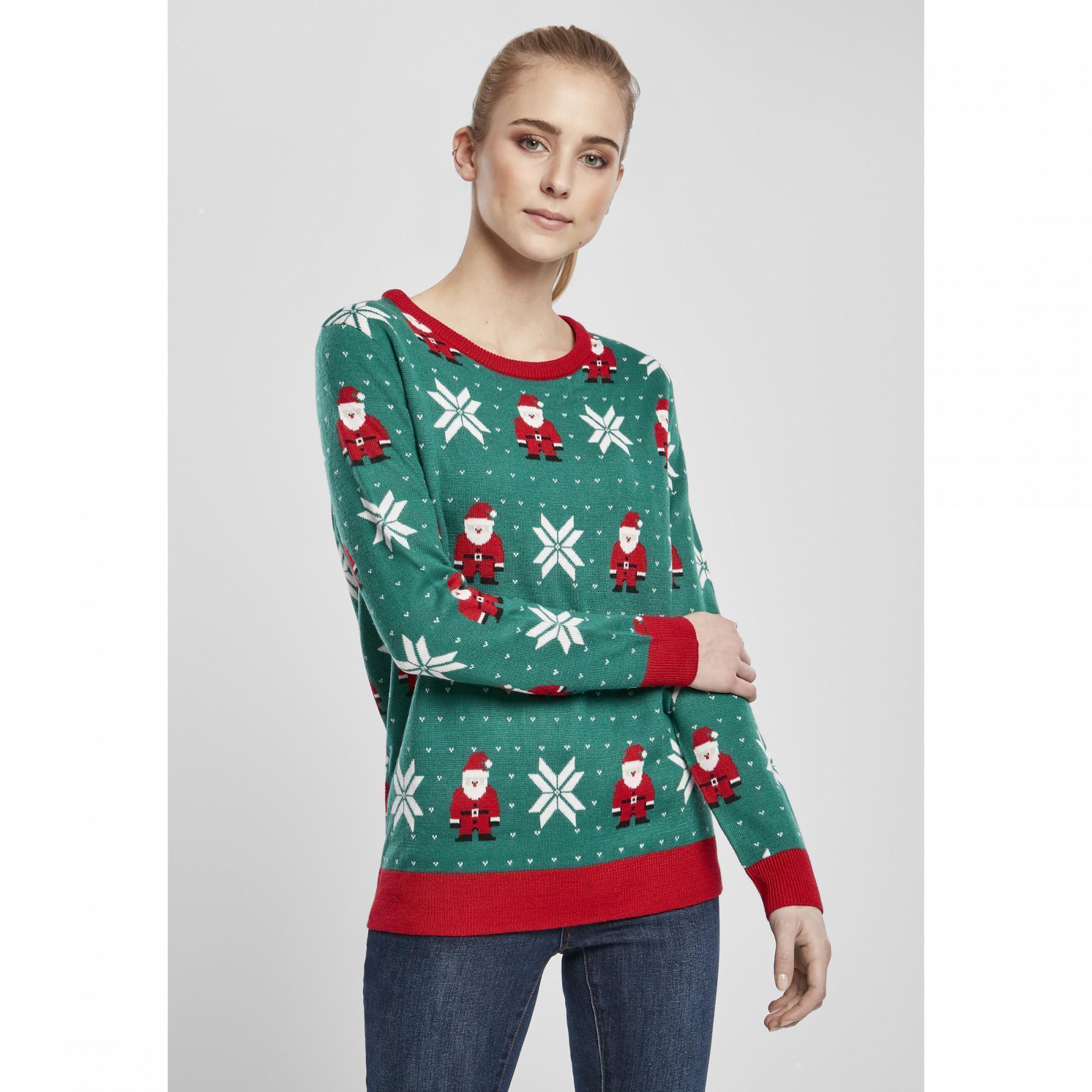 Sweatshirt woman Urban Classics santa christmas (large sizes)