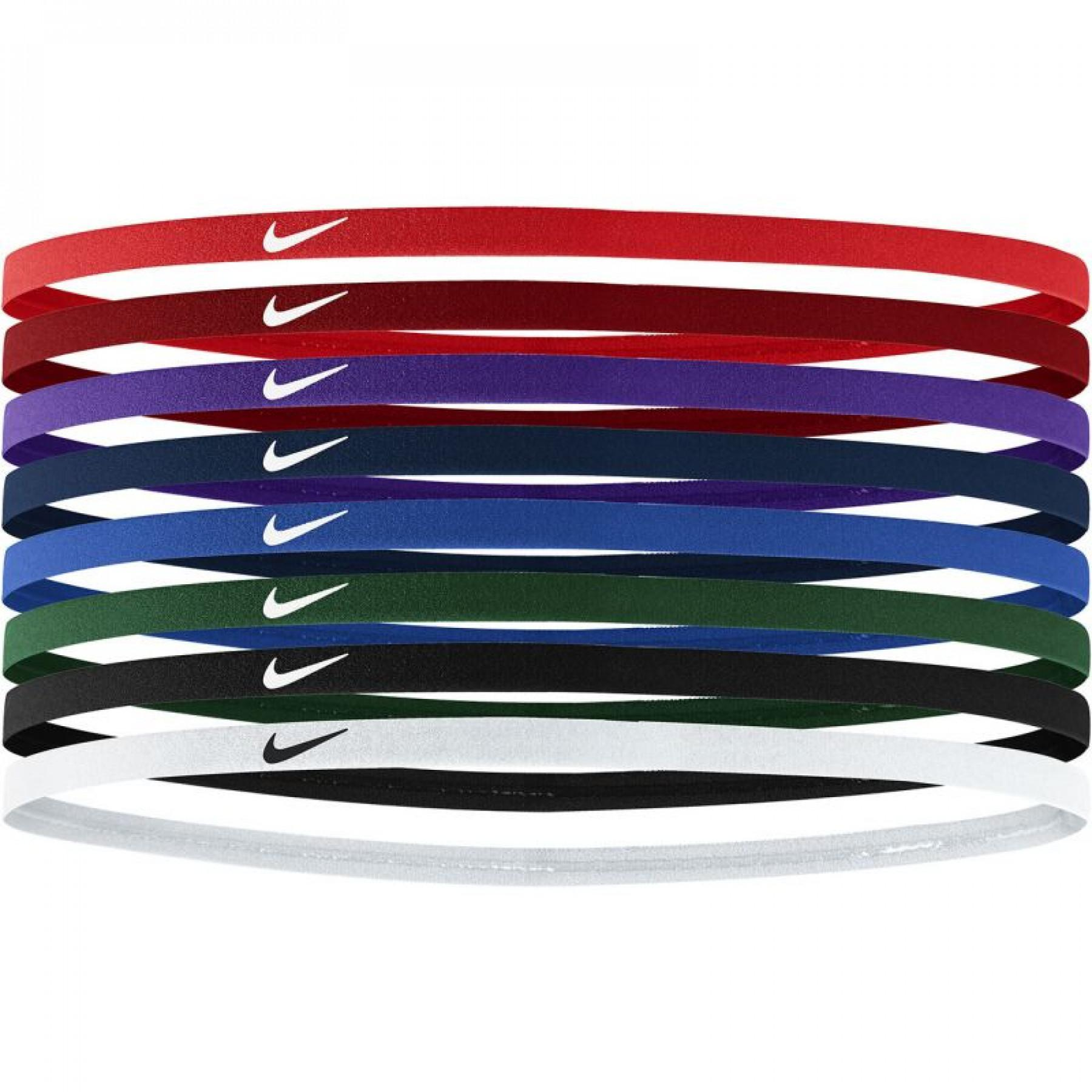 Pack of 8 Nike skinny hair bands