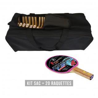 Racket kit (bag + 20 rackets) Sporti France Topspin