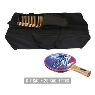 Racket kit (bag + 20 rackets) Sporti France Shooter