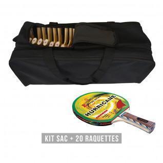 Racket kit (bag + 20 rackets) Sporti France Hurricane
