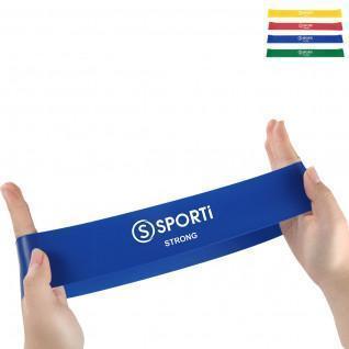 Flat band/set of 4 flat elastic bands Sporti France