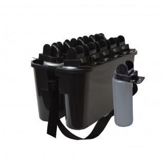Bottle holder pro large model + 10 hygienic bottles 100cl Sporti France