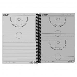 Basketball coach booklet spiral bound a5 Sporti France