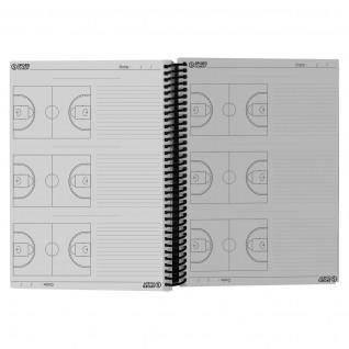 Basketball coach booklet spiral bound a4 Sporti France