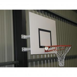 Wall mounted basketball hoop with fixed height half moon Sporti France