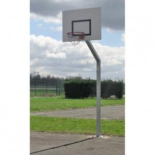 Basketball hoop, offset 1.20m and height 2.60m, galvanized on rectangular Sporti France