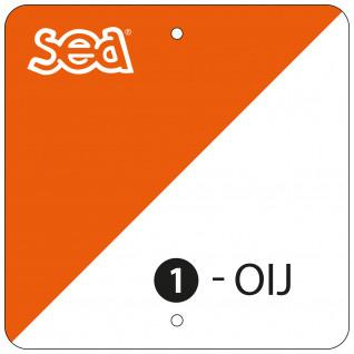 Set of 10 plastic orientation markers Sporti France