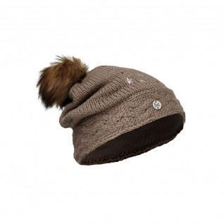 Buff darsy brown junior knitted hat