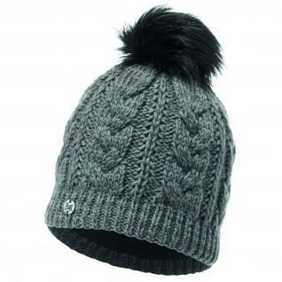 Knitted hat and fleece Buff Darla Pewter