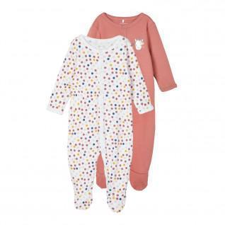 Set of 2 baby onesies Name it