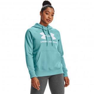 Women's hoodie Under Armour avec logo Rival Fleece