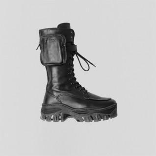 Grunge leather boots woman Bronx Jaxstar