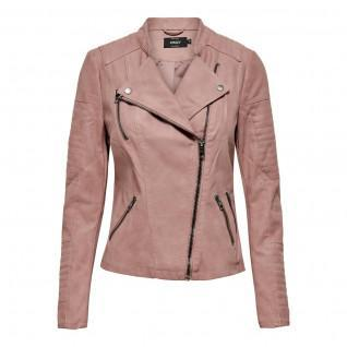 Jacket woman Only Ava imitation biker leather