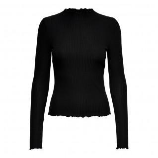 Women's Only Emma T-shirt with long sleeves and high collar