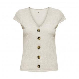 Only Nella women's top with short sleeves and button collar