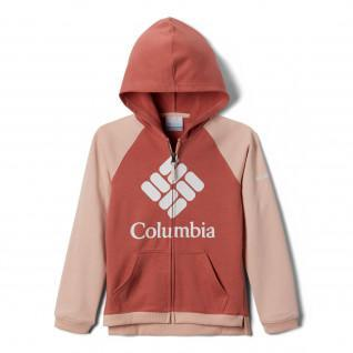 Columbia girl's zipped hoodie with hoodie