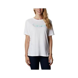 Women's T-shirt Columbia Bluebird Day Relaxed Crew Neck [Size XS]