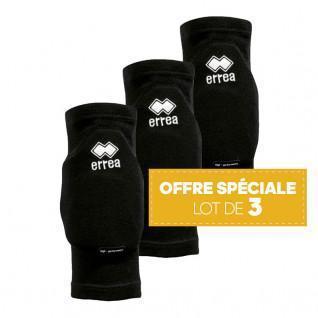 Set of 3 pairs of knee pads Errea Tokio noir