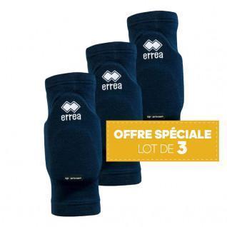 Set of 3 pairs of knee pads Errea Tokio marine