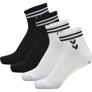 Set of 4 women's socks Hummel hmlstripe