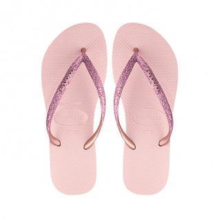 Havaianas Slim shiny flip-flops for kids