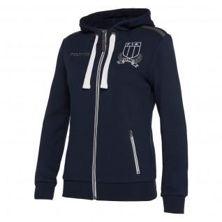 Hooded sweatshirt full cotton Italy rubgy 2019