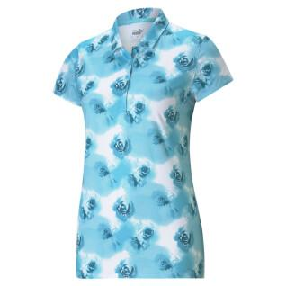 Women's polo shirt Puma Cloudspun Watercolor Floral