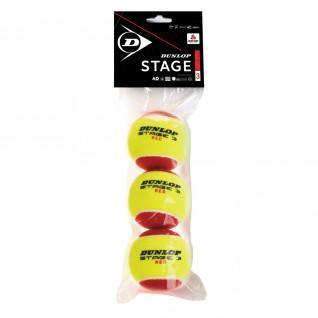 Set of 3 tennis balls Dunlop stage 3