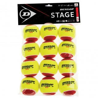 Pack of 12 tennis balls Dunlop stage 3