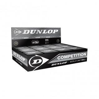 Set of 12 squash balls Dunlop competition