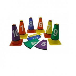 Set of 10 caches numbered cones