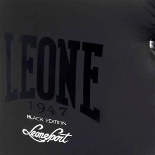 Black and white boxing gloves Leone 14 oz