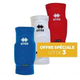Set of 3 pairs of knee pads Errea Tokio différents coloris