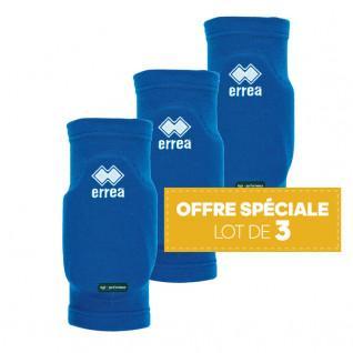 Set of 3 pairs of knee pads Errea Tokio bleu royal