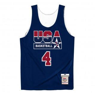 Authentic team jersey USA reversible practice Christian Laettner