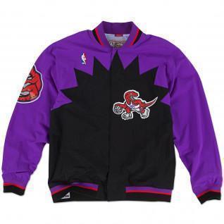 M&N Nba Authentic Toronto Warm-up Jacket