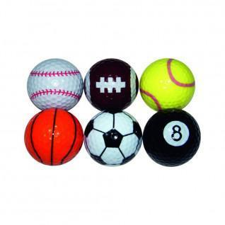 Set of 6 Longridge fancy sport balls