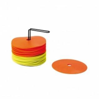 Set of 24 discs with support (12 + 12 yellow orange)