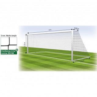 Net football goal 8 fixed 3 mm Tremblay MS 120 (x2)