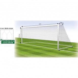 Net football goal 8 fixed 4 mm hexagonal Tremblay MS 120 (x2)