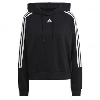 adidas Essentials Loose-Cut 3-Stripes Women's Short Hooded Sweatshirt