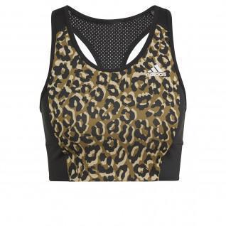 adidas Aeroready Designed 2 Move Leopard Women's Bra with Printed Leopard Print