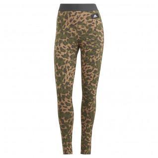 adidas Sportswear Women's Leggings Leopard-Printed Cotton
