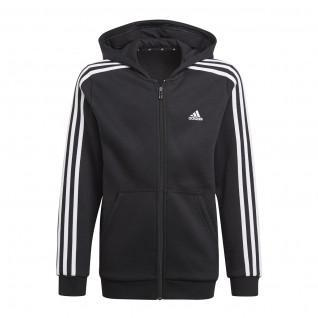 Hooded zip jacket for kids adidas Essentials 3S