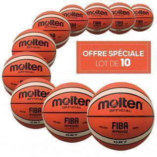 Pack of 10 Molten BGR size 7 balls