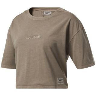 Women's T-shirt Reebok crop teinte naturelle Les Mills®