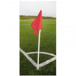 Set of 4 corner posts SportiFrance + 4 Flags Red