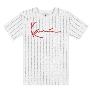 T-shirt Karl Kani Signature Logo Pinstripe