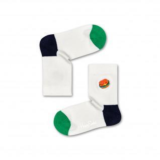 Happy Socks Hamburger Embroidery